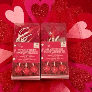 Valentine Red Hearts ❤️ LED String Lights